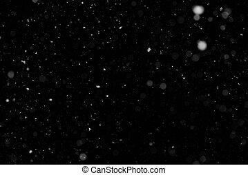 jouw, achtergrond, ontwerp, sneeuwval, black