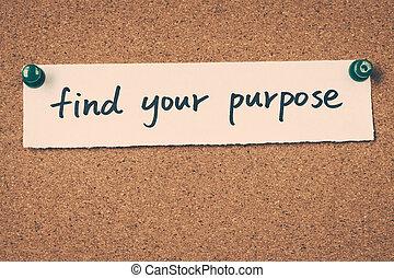 jouw, doel, vinden