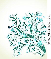 jouw, ontwerp, ornament, floral