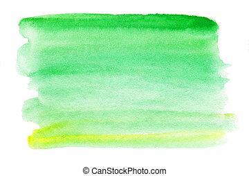 jouw, -, watercolor, watercolour, splash., abstract, nat, druppel, blauw groen, design.