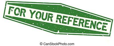 jouw, woord, zeshoek, postzegel, achtergrond, referentie, groen wit, rubberverbinding, grunge