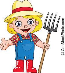 jovem, agricultor