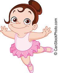 jovem, bailarino balé