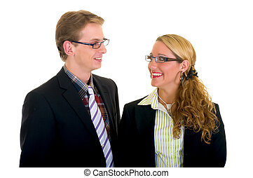 jovem, businesspeople
