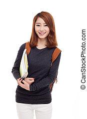 jovem, estudante, asiático