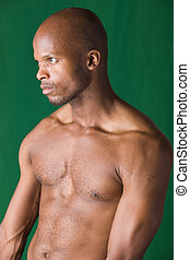 jovem, homem africano
