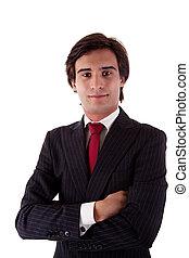 jovem, homem negócio