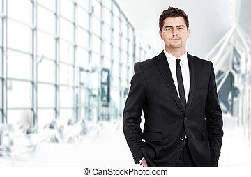 jovem, homem negócios