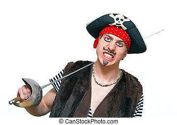jovem, pirata