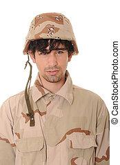 jovem, soldado