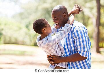 joven, africano, pareja, enamorado