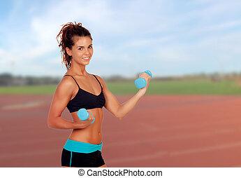 joven, atleta, entrenamiento