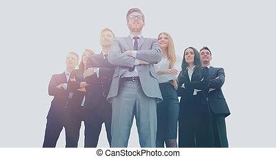 joven, atractivo, empresarios, -, el, élite, equipo negocio