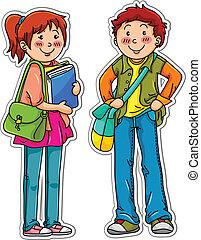 joven, estudiantes