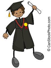 joven, graduado
