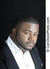 joven, hombre norteamericano africano