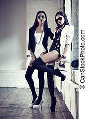 joven, japonés, mujeres, moda