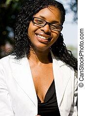 joven, mujer africana