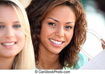 joven, mujeres