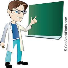 joven, profesor masculino