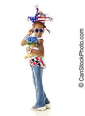 joven, saludos, patriota