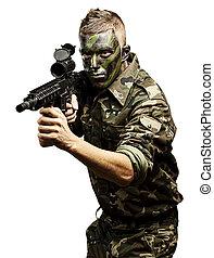 joven, soldado