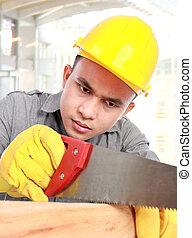joven, trabajador