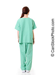 joven, trabajador de atención sanitaria