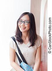 joy and smile asia woman.