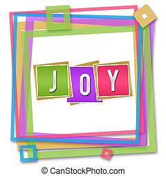 Joy Blocks Colorful Frame