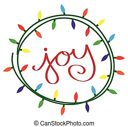Joy Christmas Lights