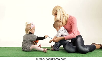 Joy of maternity - Mother spending time with her children