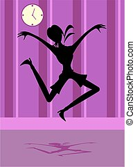 Joy Silhouette - leap for joy