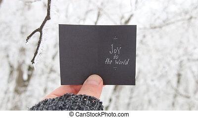 joy to the world, Christmas creative concept
