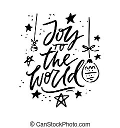 Joy To The World Holiday Lettering