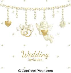 joya, plano de fondo, boda