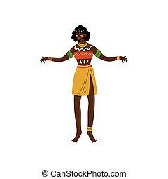 joyas, bailando, vestido, tribal, africano, aborigen,...