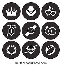 joyas, iconos, conjunto