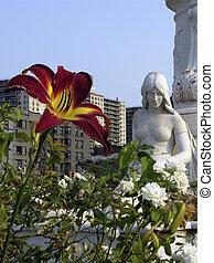Joyce Kilmer Statue - Joyce Kilmer memorial located in park...