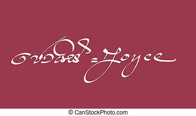 Joyce - Names in hand written Calligraphy