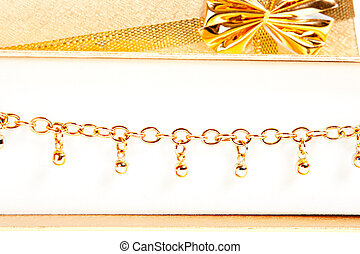 joyería del oro, cadena, regalo, primer plano