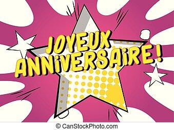 joyeux, anniversaire!, (happy, french), cumpleaños