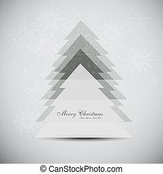 joyeux, arbre, vecteur, fond, noël carte