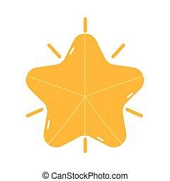 joyeux, décoration, étoile, noël, or, icône