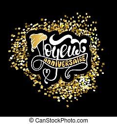 joyeux, francés, anniversaire, feliz cumpleaños, :