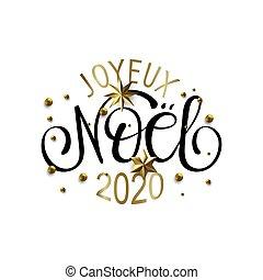 joyeux, francés, -, et, noel, año nuevo, navidad, annee, ...