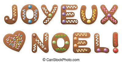 Joyeux Noel French Gingerbread Christmas