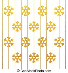 joyeux, or, flocon de neige, fond, scintillement, noël