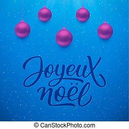 joyeux, pelotas, plano de fondo, noel, navidad