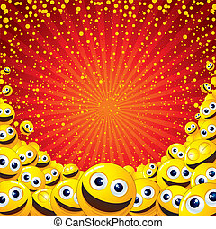 Joyful Background - Funny colorful vector background with...